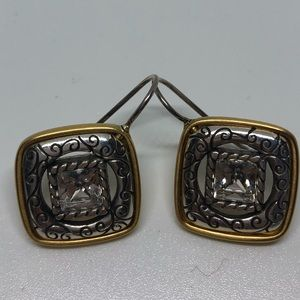 Silver and Gold Brighton Earrings